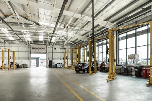 Evans Halshaw Distribution Centre Coventry interior.
