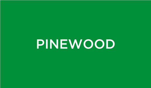 Pinewood on a green background.