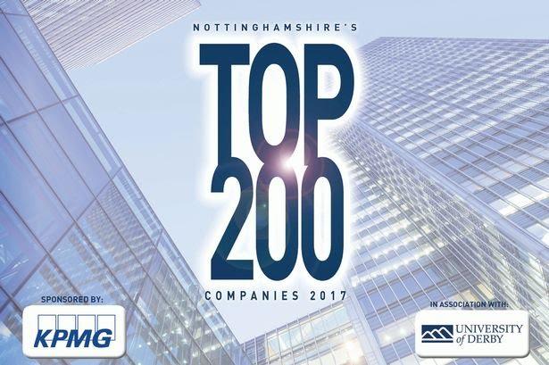 Nottinghamshire's top 200 companies 2017.