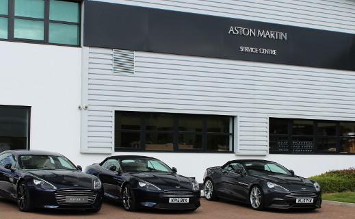 Aston Martin Service Centre in Wilmslow.