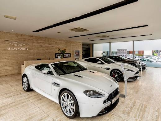 Aston Martin Wilmslow interiors.