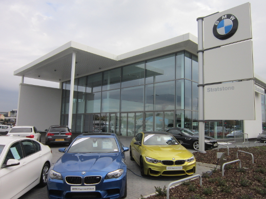Exterior of Stratstone BMW and Mini.
