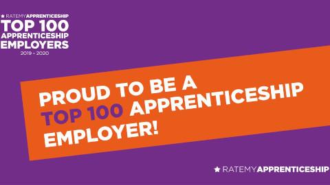 Proud to be top 100 apprentice