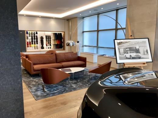 Aston Martin Mayfair seating area.