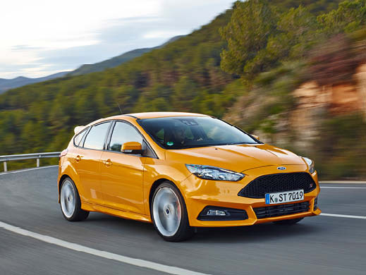 Yellow Ford Fiesta 5 door.