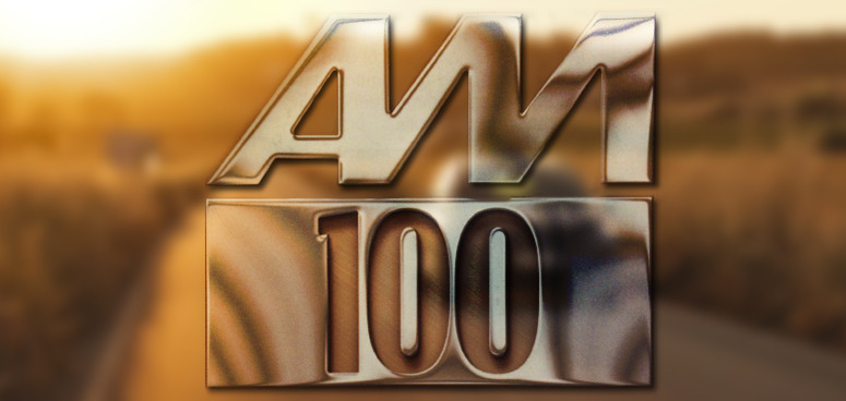 AM 100 logo.
