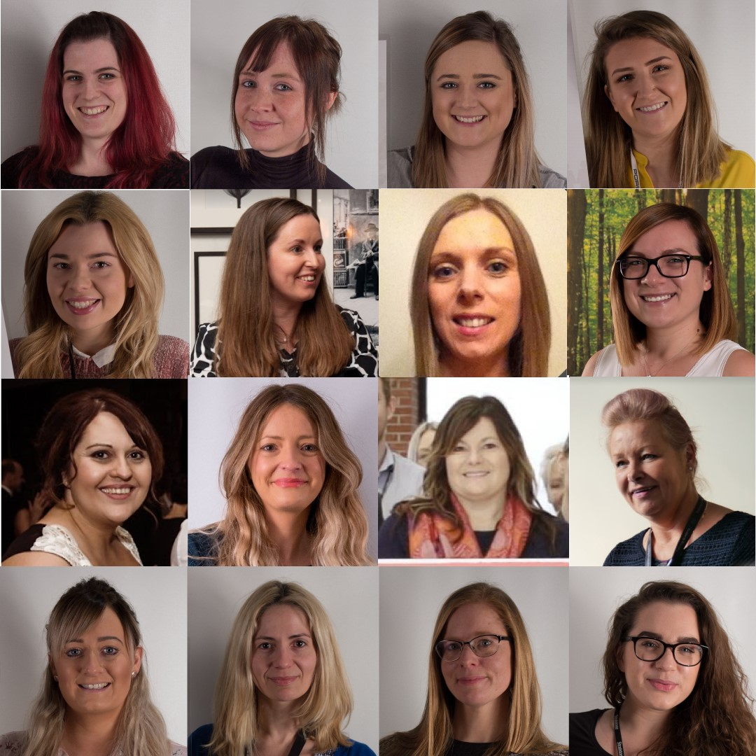 Women from Pendragon PLC Headquarters.