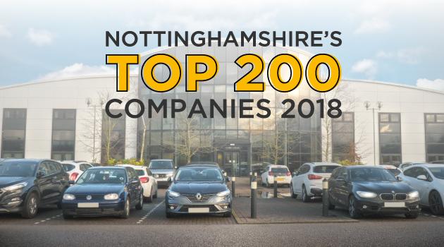 Nottinghamshire's Top 200 Companies 2018.
