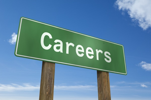 Careers sign post.