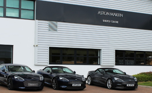 Aston Martin Service Centre in Wilmslow.