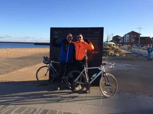 Landrover colleagues cycle Coast to Coast.
