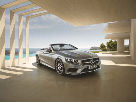 Mercedes-Benz SLC in silver.