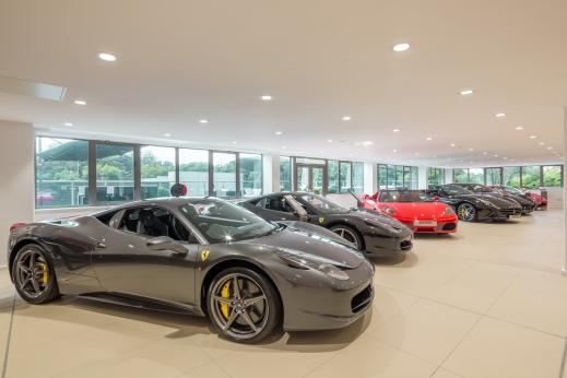 Stratstone Ferrari Wilmslow showroom.